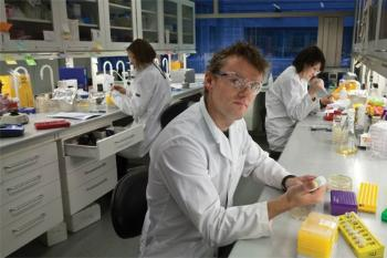 Trygve Brautaset in the lab at NTNU