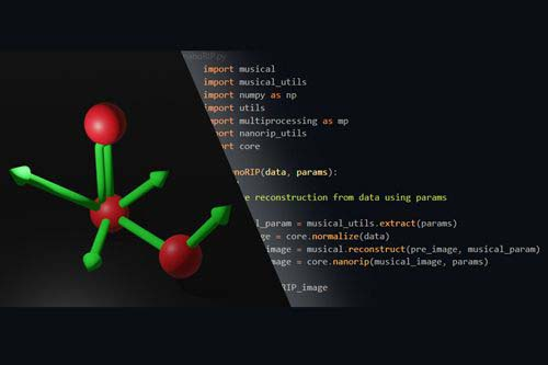 Image of molecule and code